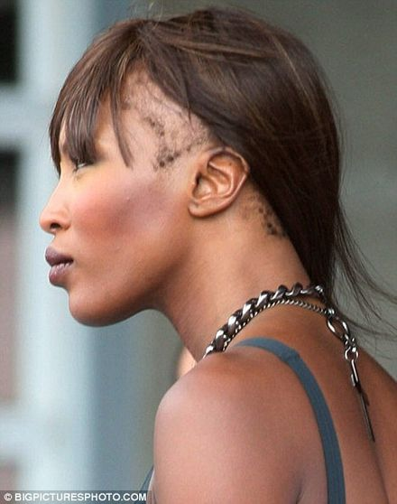 Just WHERE has Naomi Campbell's hair gone?