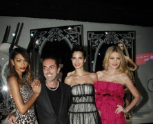 Jessica Stam, Chanel Iman, and Hanaa Ben Abdesslem help launch Giambattista Valli for Macy's