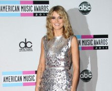 Heidi Klum and Anne Vyalitsyna at the American Music Awards