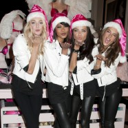 Lindsey Ellingson, Chanel Iman, Adriana Lima, and Alessandra Ambrosio promoting Holiday gift picks