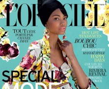 Chanel Iman blossoms in L'Officiel Paris cover