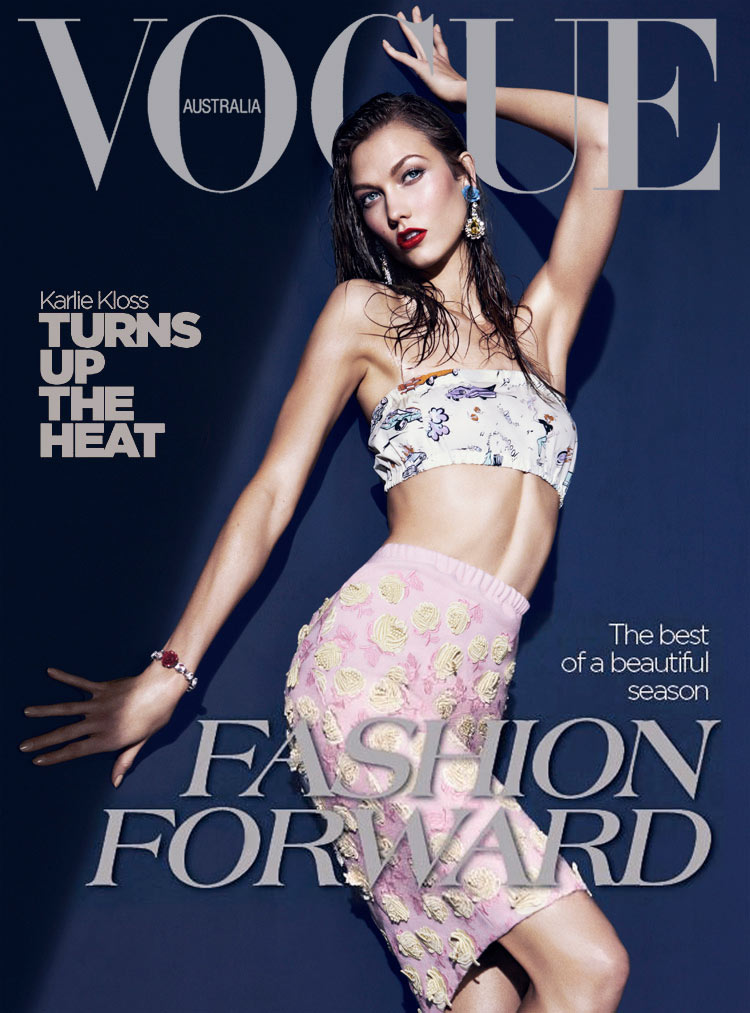 Karlie Kloss covers Australian Vogue