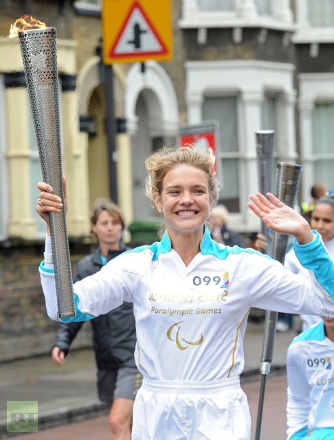 Natalia Vodianova joined the Paralympic Torch Relay!