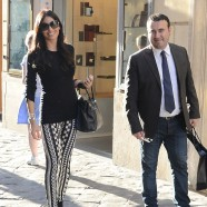 Elisabetta Gregoraci looks great in a pair of crazy leggings