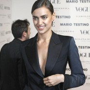Irina Shayk flaunts it at Vogue bash