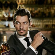 David Gandy poses for Johnnie Walker Blue Label