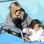 Heidi Klum, beau Kristen and her kids