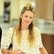 Candice Swanepoel goes make-up free
