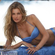 Edita Vilkeviciute shoots new VS swimwear campaign
