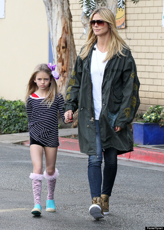 Heidi Klum Takes Her Girls To Gymnastics Class