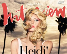 Heidi Klum poses for Germany�s Interview magazine