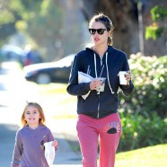 Alessandra Ambrosio shows daughter Anja how to do it right