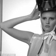 Pregnant Lara Stone poses for Harper�s Bazaar