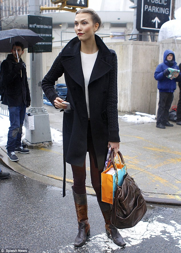 Karlie Kloss shows her style-sense as she leaves NYFW show