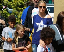 Heidi Klum�s a busy mum on-the-go