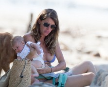 Gisele Bundchen shows off her bikini-clad figure