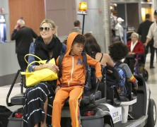It�s back on safe ground for Heidi Klum and family