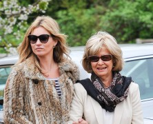 Kate Moss spends time with the in-laws