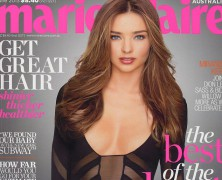 Miranda Kerr does the cover of Marie Claire in peek-a-boo outfit