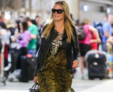 Heidi Klum struts her stuff through LAX