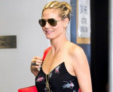Heidi Klum goes bare-faced in New York