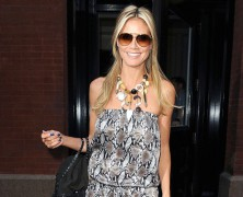 Heidi Klum looked picture perfect as she breezed into The Big Apple