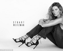 Gisele Bundchen Goes Topless Again for Stuart Weitzman Campaign