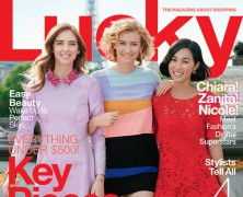 Lucky Magazine's February Cover Features Three Fashion Bloggers