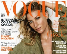Gisele Bundchen Covers March Vogue