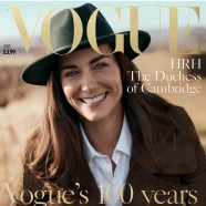 Kate Middleton poses for british vogue