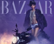 Chanel Iman pays tribute to Prince on the June Cover of Harper's Bazaar Serbia