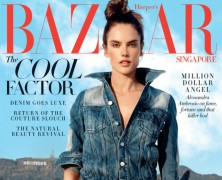 Alessandra Ambrosio is Harpers Bazaar Singapore January Cover Star