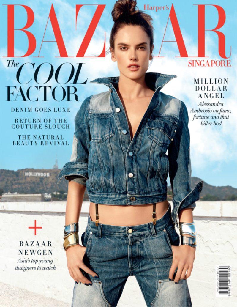 Alessandra Ambrosio Harpers Bazaar Singapore January 2017