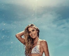 Heidi Klum fronts her new swimwear campaign