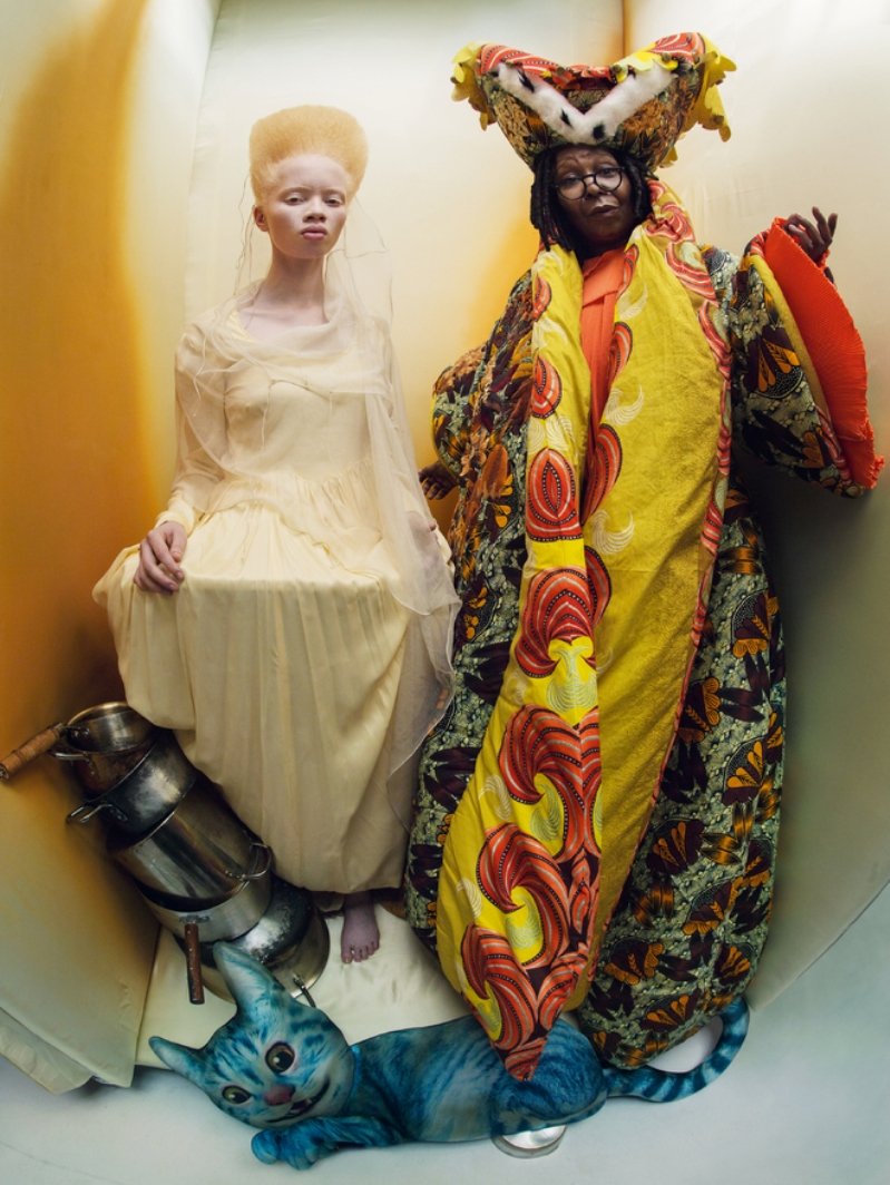 Whoopi Goldberg and Thando Hopa