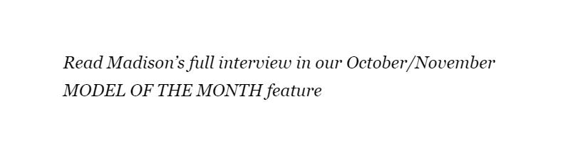 Madison Headrick FMD Model Of The Month